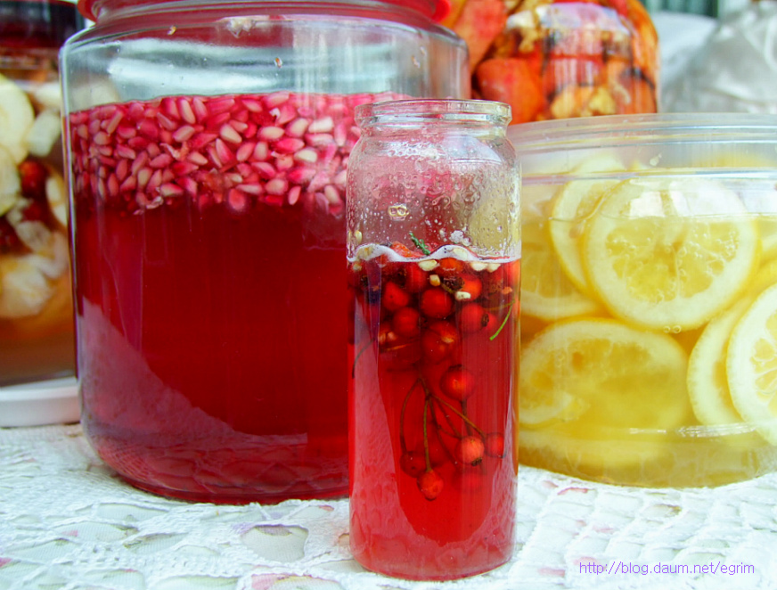에스트로겐 풍부한 석류효소 만들기,레드칵테일 만들기