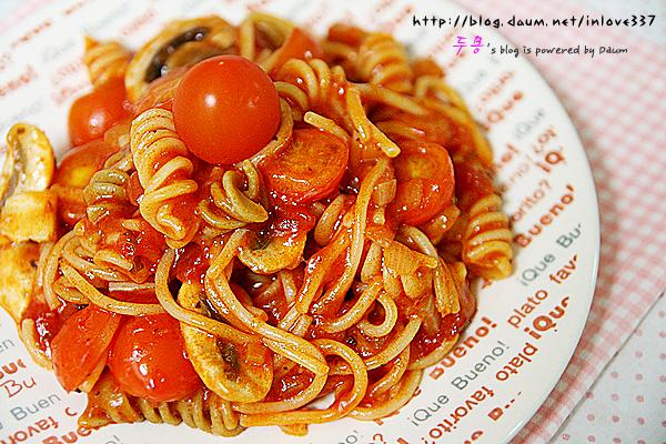 간단하게 즐기는 방울토마토 스파게티