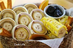 아이들간식 - 식빵바나나롤