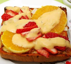 과일 샐러드 식빵피자