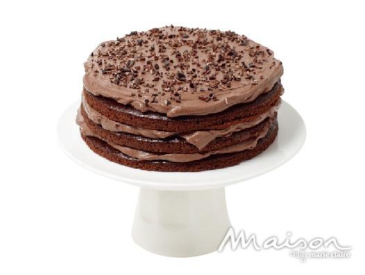 다크 초콜릿 두부 크림 케이크